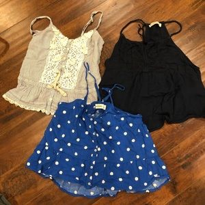 abercrombie kids top lot of 3 sz m